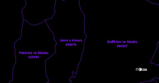 Katastrální mapa Janov