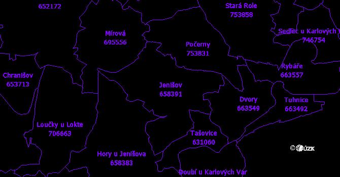 Katastrální mapa Jenišov