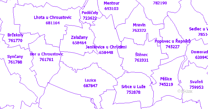 Katastrální mapa Jenišovice