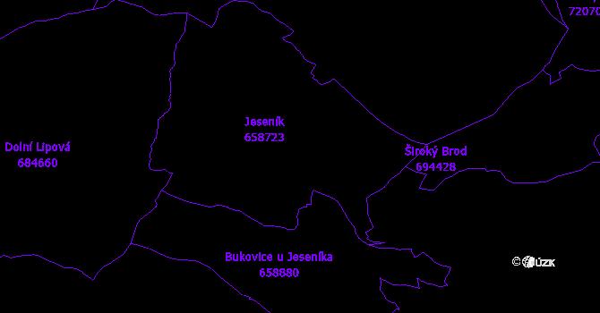 Katastrální mapa Jeseník