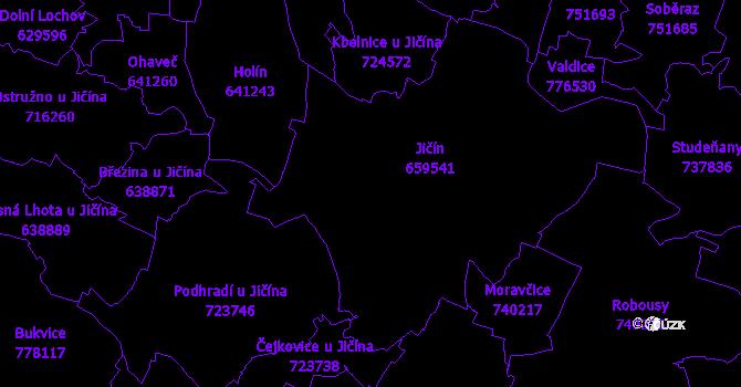Katastrální mapa Jičín