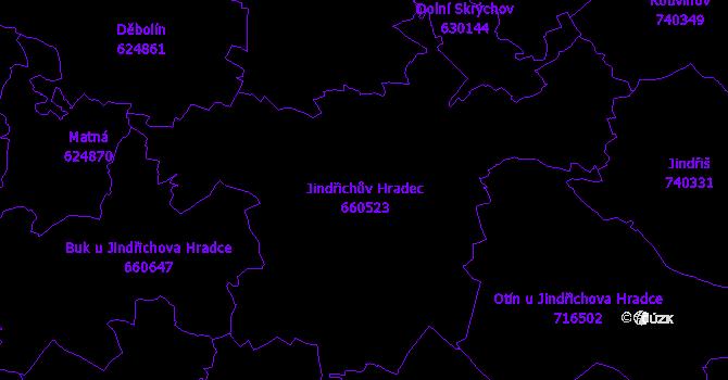 Katastrální mapa Jindřichův Hradec