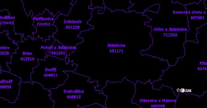 Katastrální mapa Jistebnice