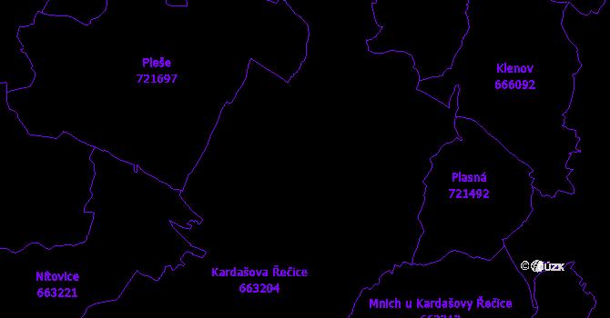 Katastrální mapa Kardašova Řečice