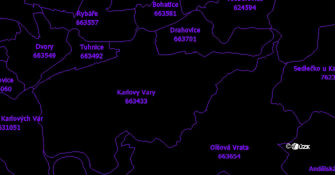 Katastrální mapa Karlovy Vary