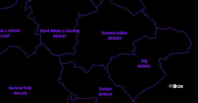 Katastrální mapa Karviná