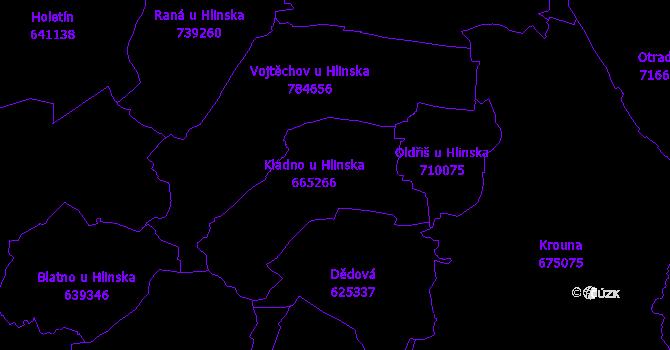 Katastrální mapa Kladno