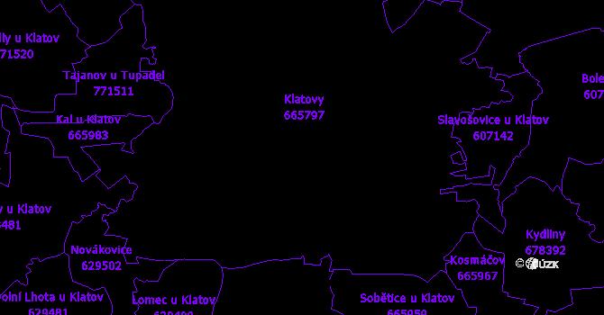 Katastrální mapa Klatovy