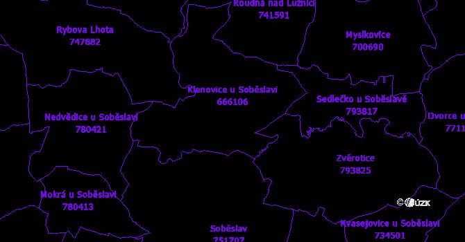 Katastrální mapa Klenovice