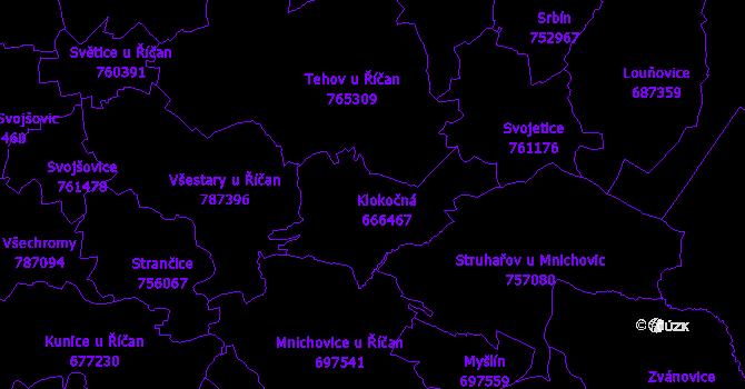 Katastrální mapa Klokočná