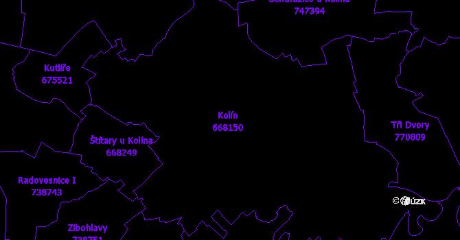 Katastrální mapa Kolín