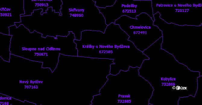 Katastrální mapa Králíky