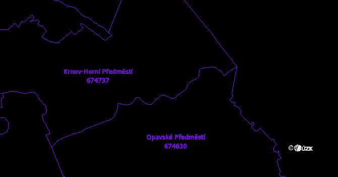 Katastrální mapa Krnov