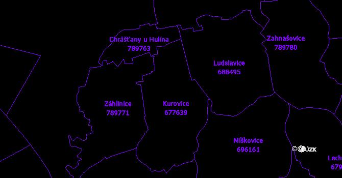 Katastrální mapa Kurovice