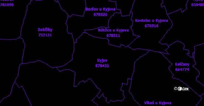Katastrální mapa Kyjov