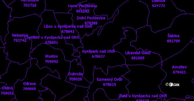 Katastrální mapa Kynšperk nad Ohří