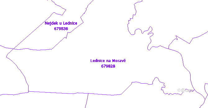 Katastrální mapa Lednice