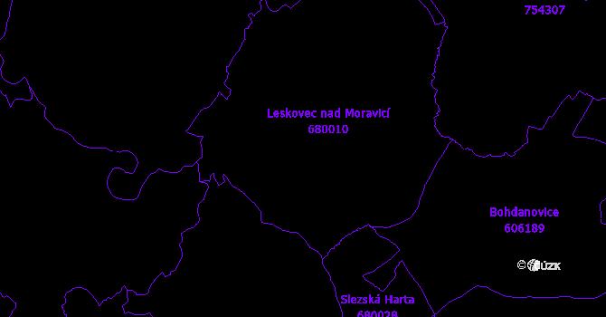 Katastrální mapa Leskovec nad Moravicí