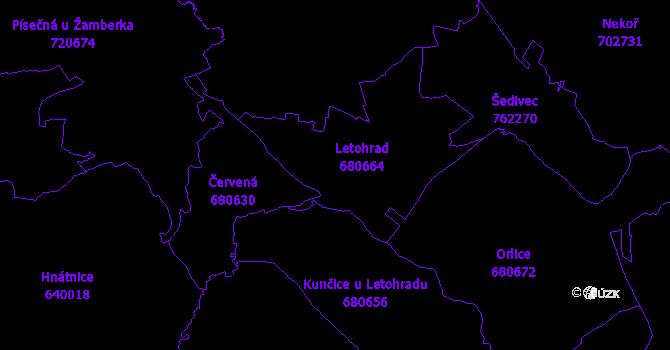 Katastrální mapa Letohrad