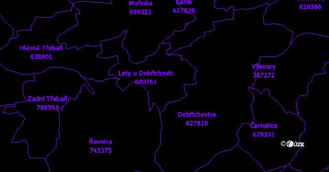 Katastrální mapa Lety