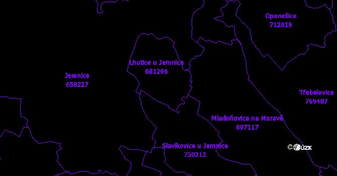 Katastrální mapa Lhotice