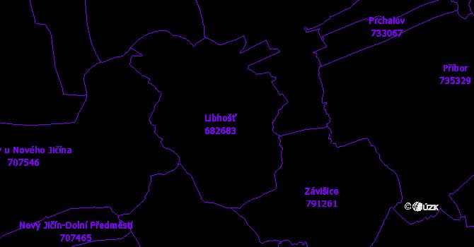 Katastrální mapa Libhošť