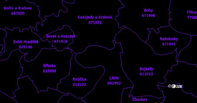 Katastrální mapa Liblín