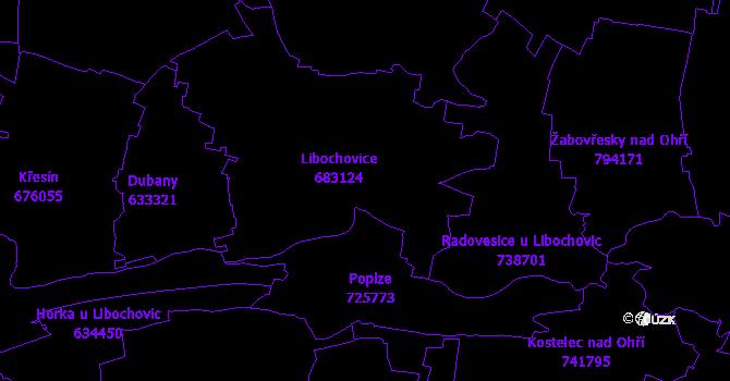 Katastrální mapa Libochovice
