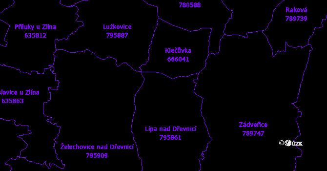 Katastrální mapa Lípa