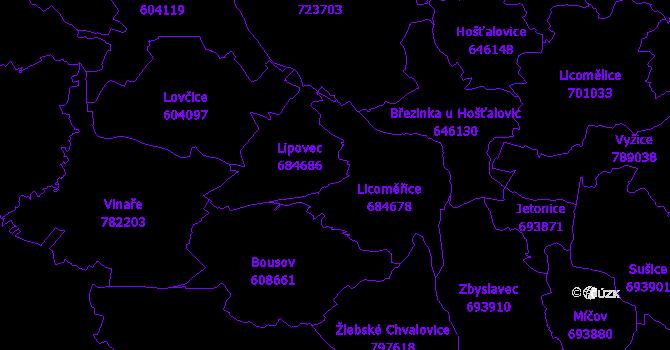 Katastrální mapa Lipovec