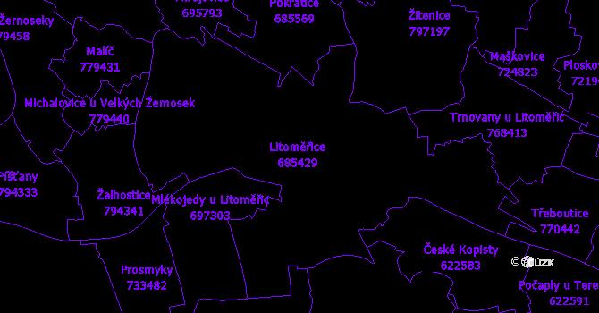 Katastrální mapa Litoměřice