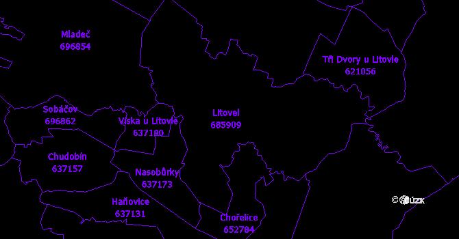 Katastrální mapa Litovel