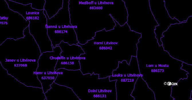 Katastrální mapa Litvínov