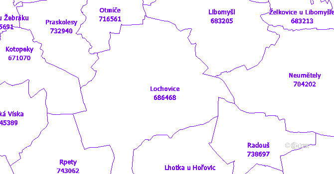 Katastrální mapa Lochovice