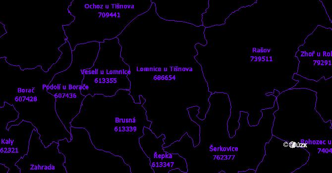 Katastrální mapa Lomnice