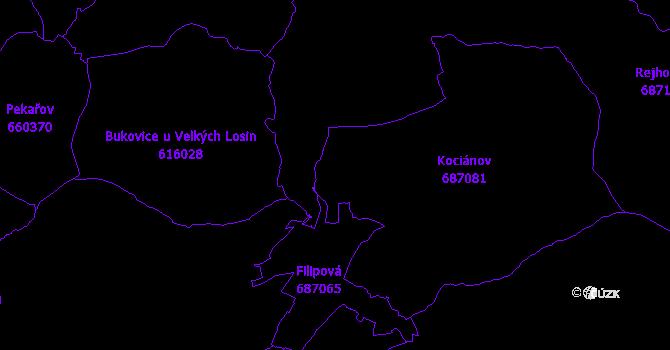 Katastrální mapa Loučná nad Desnou