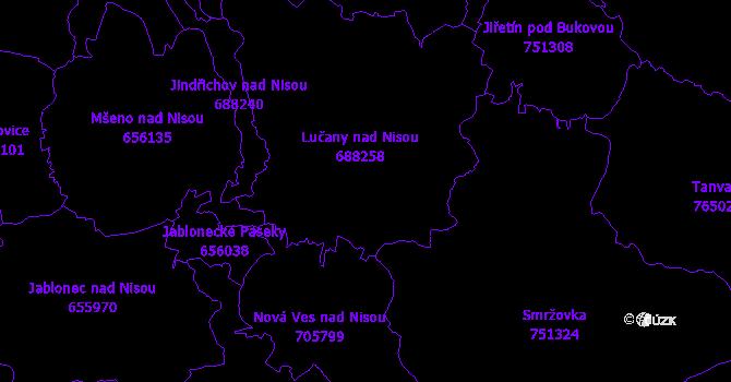 Katastrální mapa Lučany nad Nisou