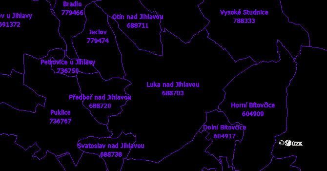 Katastrální mapa Luka nad Jihlavou