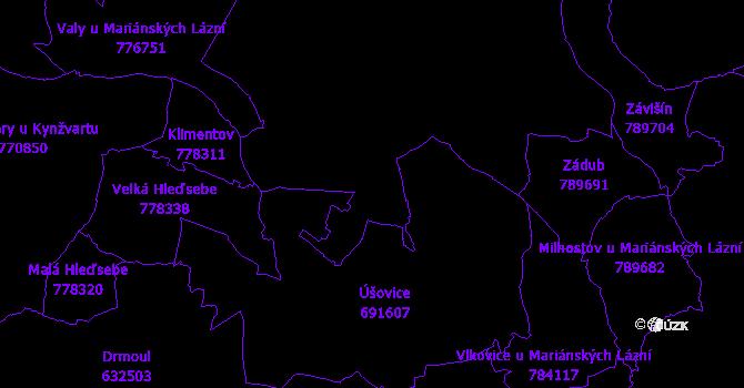 Katastrální mapa Mariánské Lázně