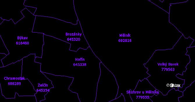 Katastrální mapa Mělník