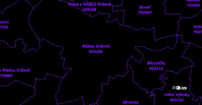 Katastrální mapa Městec Králové