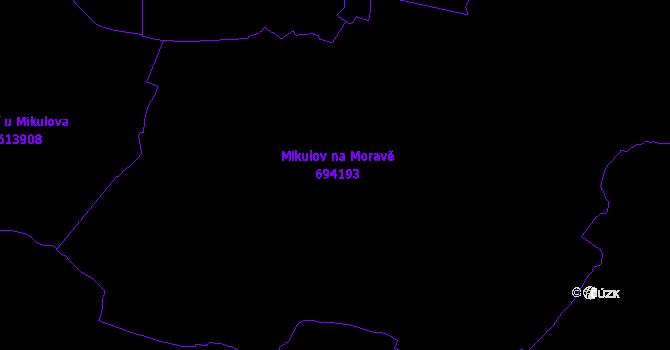 Katastrální mapa Mikulov