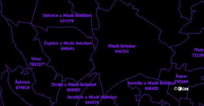 Katastrální mapa Mladá Boleslav