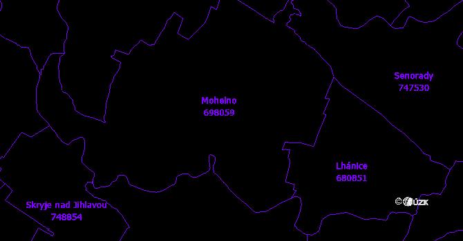 Katastrální mapa Mohelno