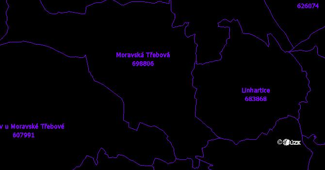 Katastrální mapa Moravská Třebová