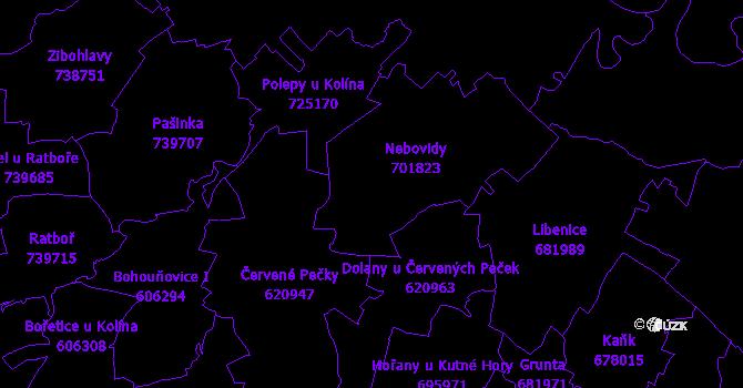 Katastrální mapa Nebovidy