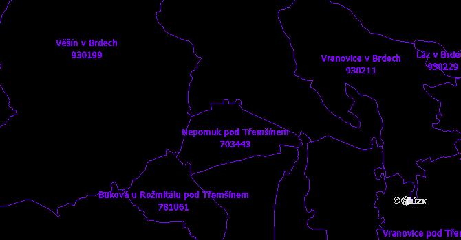 Katastrální mapa Nepomuk