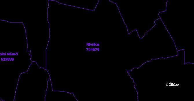 Katastrální mapa Nivnice