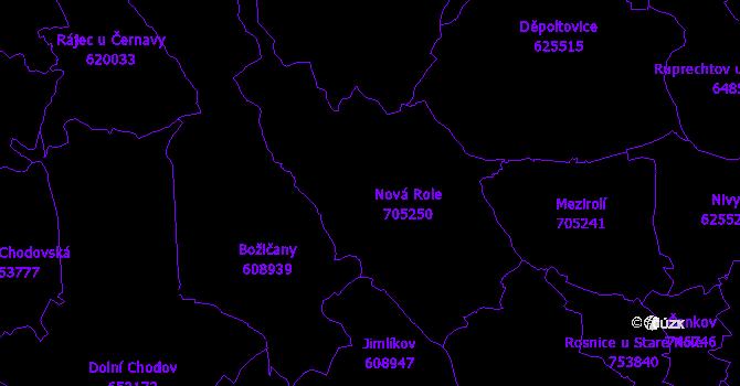 Katastrální mapa Nová Role
