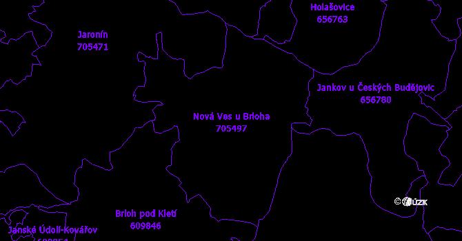 Katastrální mapa Nová Ves